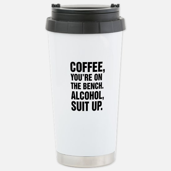 Suit Up Alcohol Stainless Steel Travel Mug