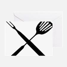 Cute Grilling utensils Greeting Card