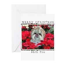 Funny Shitzu christmas Greeting Cards (Pk of 20)