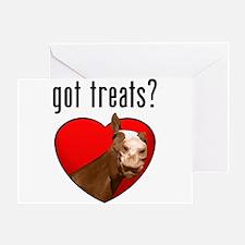 Got Treats? Cute Horse Greeting Card