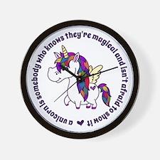 Unicorns Are Magical Wall Clock