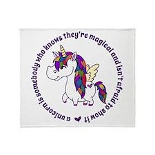 Unicorns Are Magical Throw Blanket