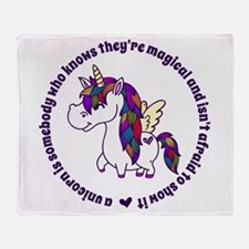 Unicorns Are Magical Throw Blanket