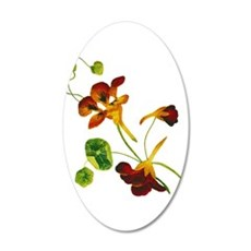 Embroidered Nasturtiums Wall Decal