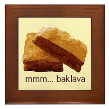 mmm... Baklava Framed Tile