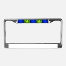 Fish Flowers Red Yellow Blue License Plate Frame