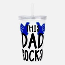 This Dad Rocks! Acrylic Double-wall Tumbler