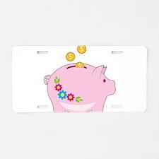 Piggy Bank Aluminum License Plate