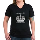 50 year old gag Womens V-Neck T-shirts (Dark)