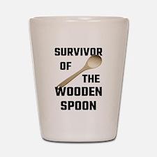 Survivor Of The Wooden Spoon Shot Glass