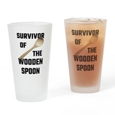 Survivor Of The Wooden Spoon Drinking Glass