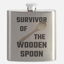 Survivor Of The Wooden Spoon Flask