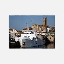 Ship, Penzance, England 5'x7'Area Rug
