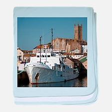 Ship, Penzance, England baby blanket