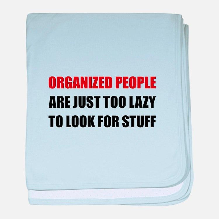 Organized People baby blanket