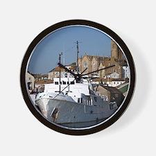 Ship, Penzance, England Wall Clock