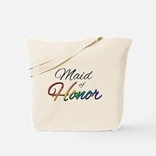 "Rainbow ""Maid of Honor"" Tote Bag"