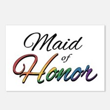 "Rainbow ""Maid of Honor"" Postcards (Package of 8)"