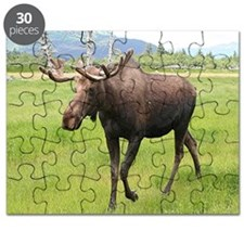 Alaskan moose with antlers 2 Puzzle