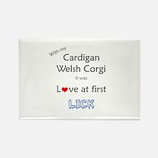 Cardigan Lick Rectangle Magnet