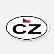 Czech.png Oval Car Magnet