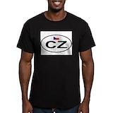 Czech flag Fitted T-shirts (Dark)