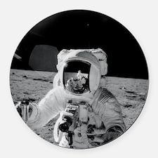 Apollo 12 Astronauts explore the  Round Car Magnet