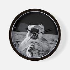 Apollo 12 Astronauts explore the Moon Wall Clock