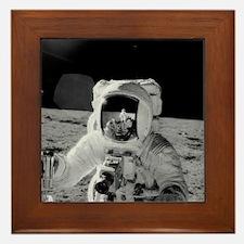 Apollo 12 Astronauts explore the Moon Framed Tile