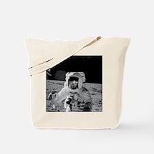 Apollo 12 Astronauts explore the Moon Tote Bag