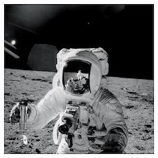 Apollo 12 Astronauts explore the Moon Poster