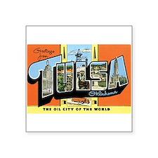 "Funny Oklahoma tulsa Square Sticker 3"" x 3"""