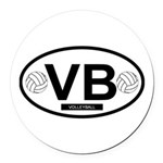 VB4.png Round Car Magnet