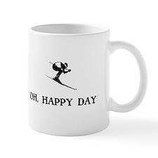 Oh Happy Day Skiing Mugs