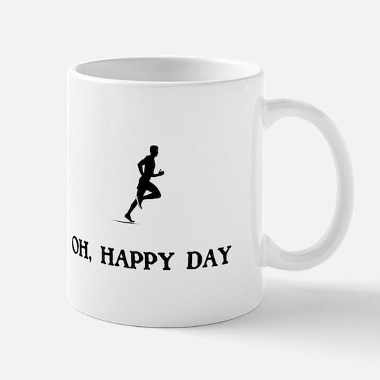 Oh Happy Day Running Mugs