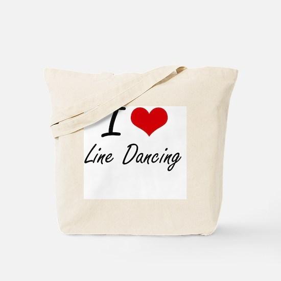 I love Line Dancing Tote Bag