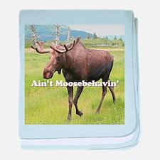 Ain't Moosebehavin' Alaskan Moose baby blanket
