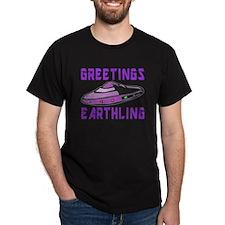 Greetings Earthling (Purple Version) T-Shirt
