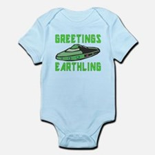 Greetings Earthling (Green Version) Body Suit