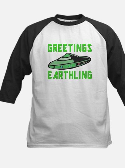 Greetings Earthling (Green Version Baseball Jersey