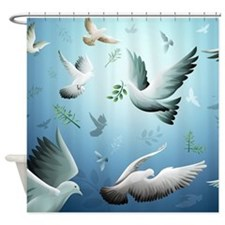 Beautiful Doves Shower Curtain