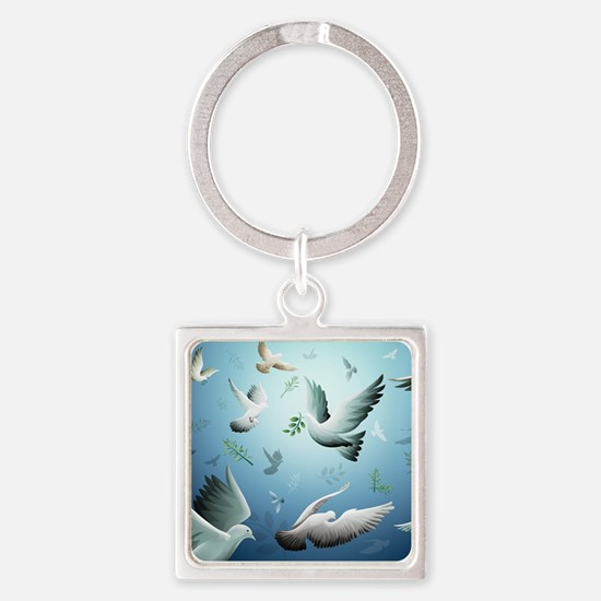 Beautiful Doves Keychains