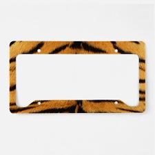 Tiger Fur License Plate Holder