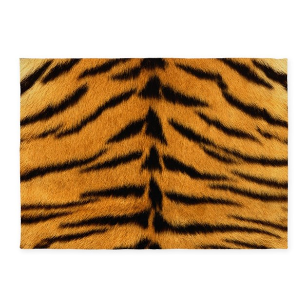 Tiger Fur 5'x7'Area Rug By WickedDesigns4