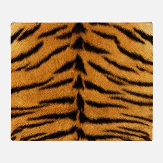 Tiger Fur Throw Blanket