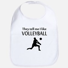 They Tell Me I Like Volleyball Bib