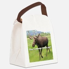 Don't moose with me Alaskan moose Canvas Lunch Bag