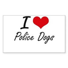 I love Police Dogs Decal