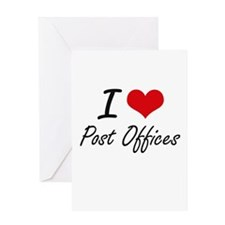 I love Post Offices Greeting Cards
