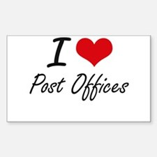 I love Post Offices Decal
